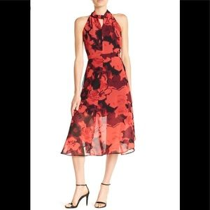 Philosophy Apparel Floral Woven Midi Dress Sz 10 ... c984d151b953